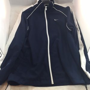 Unisex/Men Nike blue and white windbreaker jacket